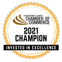 Chamber of Commerce 2021 Champion Bage of invested Excellence